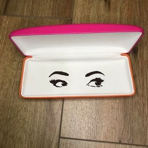 Kate Spade 2 Tone Eye Glass Case Pink Orange